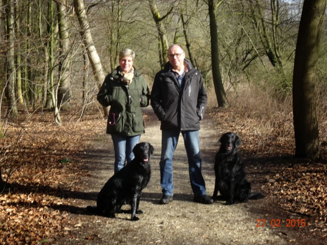 Familie Zerbe mit Hunden